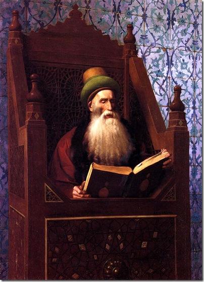 Jean-Leon Gerome - Muftí leyendo en su atril de oración