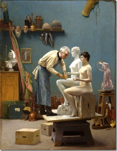 Jean-Leon Gerome - Working_in_Marble