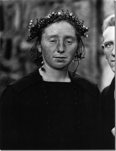 august sander - Rural bride 1921-22