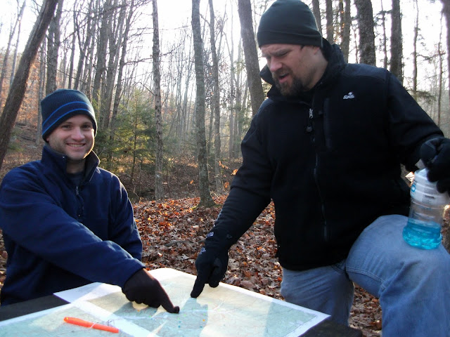 Planning our route at the 2010 Shawnee Extreme Rogaine