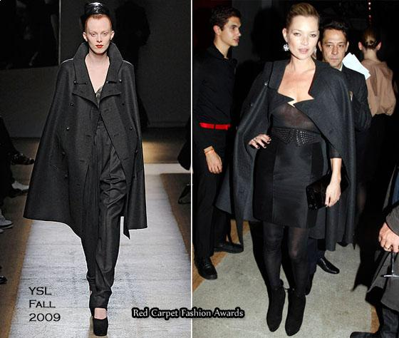 Kate Moss was one of the celebrities in the front row