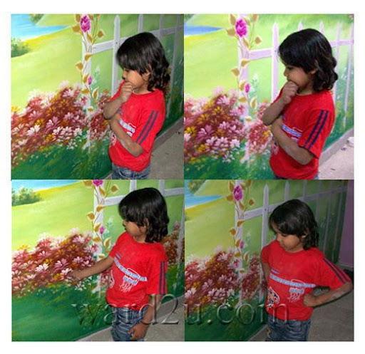 اصغر رسام يشارك معي في رسمة جداريه