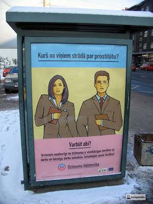 Kurš no viņiem strādā par prostitūtu?