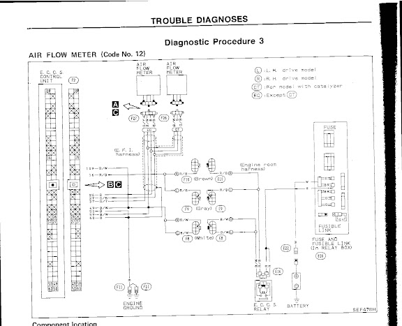 Wiring Diagram For Z32 Afm : Rich idle condition cat temp sensor z afm wiring