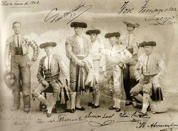 Mazzantini y cuadrilla en Mexico 1902 (Taurina pag 183)