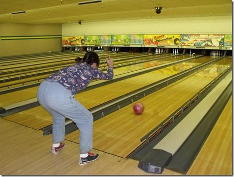 Taylor bowling