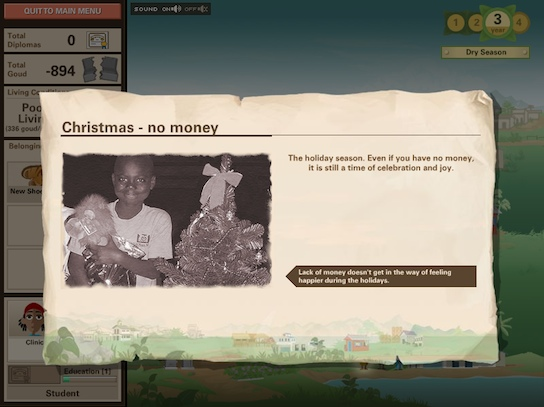 Ayiti screenshot - Christmas without money