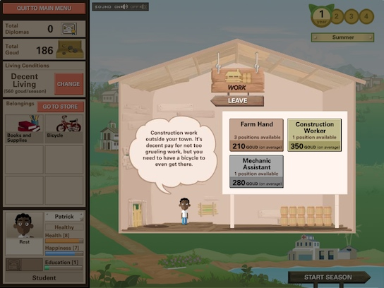 Ayiti screenshot - construction work description