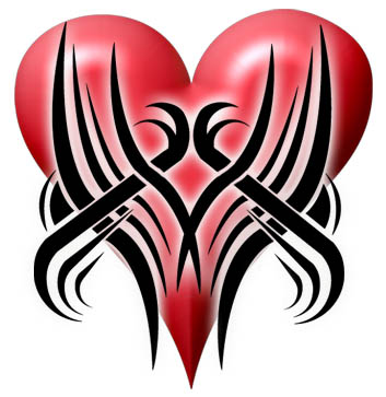 tribal tattoo picture. Tribal Heart Tattoos
