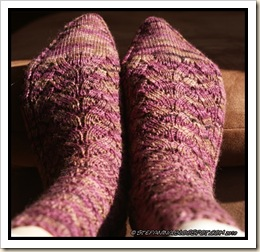 Bois de Rose Socks - finished