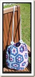 African flower bag - finished