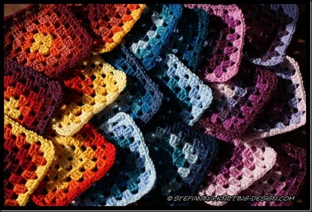 Crochet a rainbow - granny square