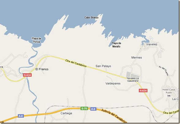 Mapa senda costera
