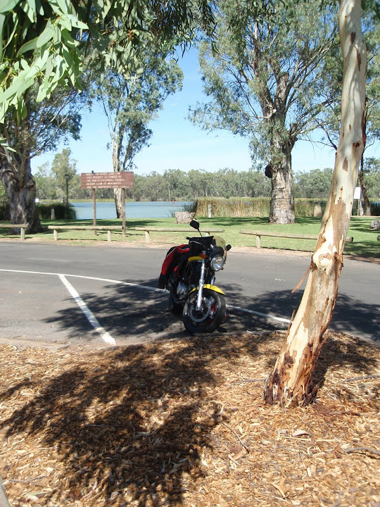 My bike at the Murray Darling junction