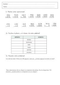 DEBERES PARA CASA DE LENGUAJE Y MATEMÁTICAS 3º
