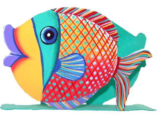 Dibujos de peces multicolor - Dibujos en colores para imprimir ...