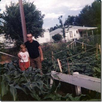 Nathan & Dad Gardening