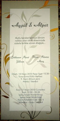 Aygül Yıldırım & Alper Aksoy; Nikah Törenlerinde Sizleridele aralarında görmekten mutluluk duyarlar...! Haberin Devamı için Tıklayınız..!