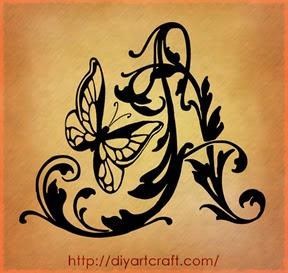 maiuscola A farfalla