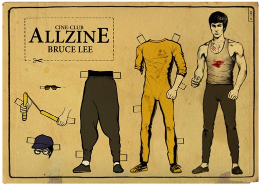 Bruce-Lee-Paper-Doll