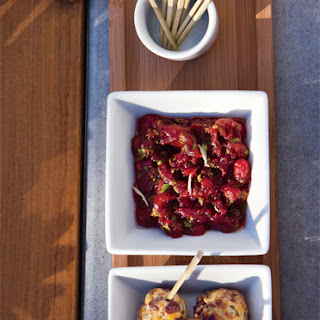 Turkey Meatballs with Sage and Cranberries