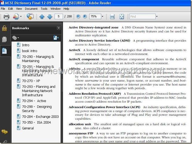 MCSE Dictionary