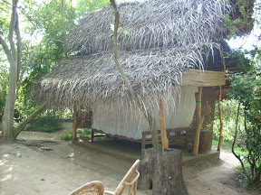 mudhouse mud house hotel anamaduwa puttalam sri lanka outdoor bed with thatched roof