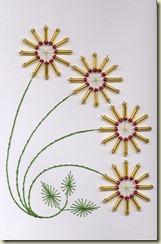 4 beaded flowers