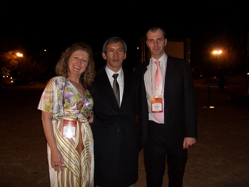 Julie & Geoff with CERAGEM Chairman Lee Hwan-Seong