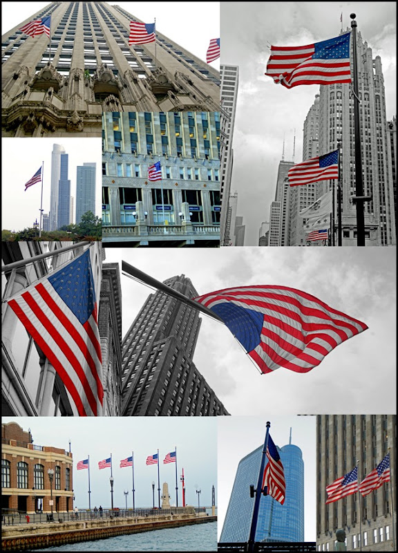 ChicagoAmericanFlags