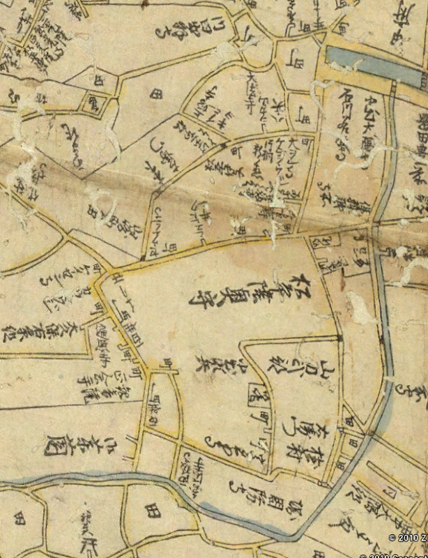 Google Earth 延宝8(1680)年地図