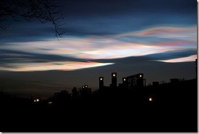 Nacreous clouds  ©2008 James Guy