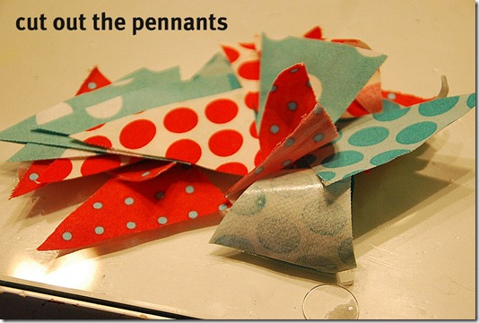cut out the pennants