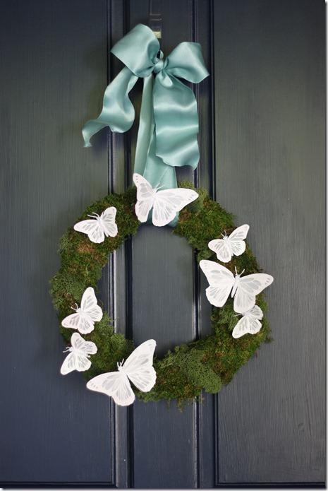 ashley's wreath on the door
