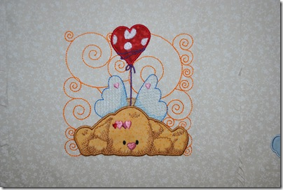 Appliqued Angel Puppies 003