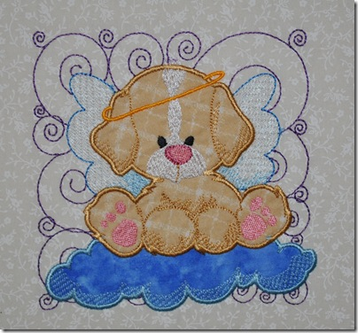 Appliqued Angel Puppies 009