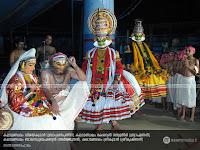 SanthanaGopalam Kathakali: Kalamandalam Vijayakumar as BrahmanaPathni, Kalamandalam Kesavan Nampoothiri as Brahmanan, Kalamandalam Balasubrahmanian as Arjunan and Kalamandalam Sreekumar as SriKrishnan.