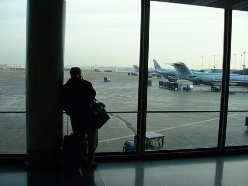 Venter på flyplassen
