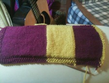 Jessie's scarf so far!