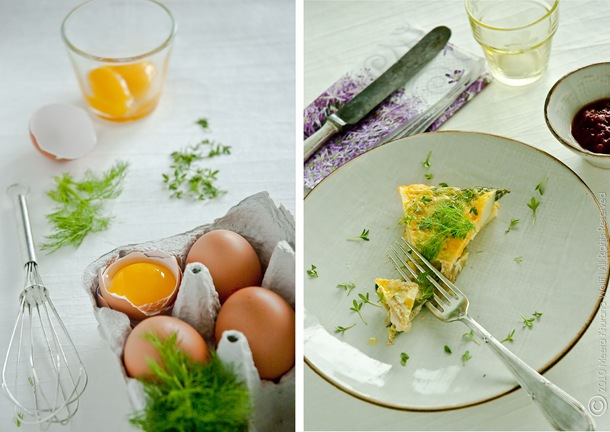 Asparagus Fennel Tortilla Diptych (2) by MeetaK