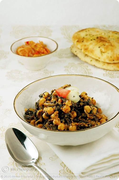 Chickpeas with Spinach – Channa Palak (01) by MeetaK
