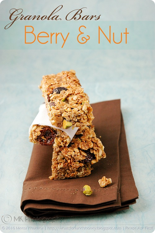 Four Grain Berry Pistachio Nut Granola Bar (02) by MeetaK