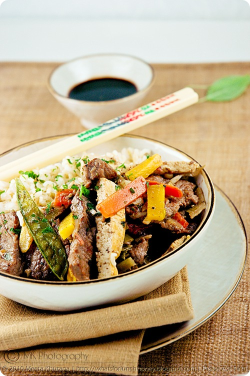 Beef Vegetable Tofu StirFry (03) by MeetaK