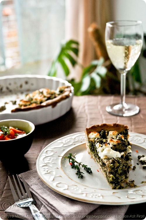 Kale Mushroom and Goat Cheese Buckwheat Tart (04) by MeetaK