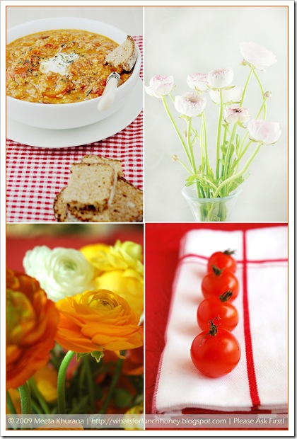 Tuscan Tomato Soup Spring Collage  By MeetaK