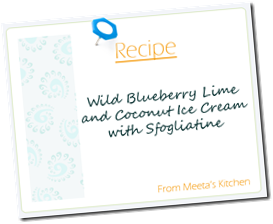 Meeta Recipe CardBlueberryCocoLimeIceCream