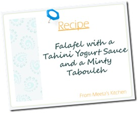 Falafel Recipe Card