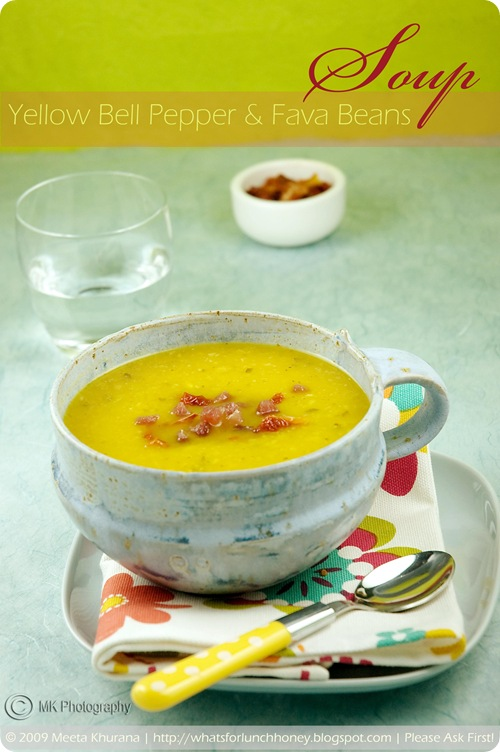 Red Bell Pepper and Fava Bean Soup (01) by MeetaK