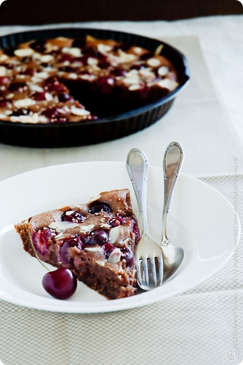 Dark Chocolate Cherry and Tahini Clafoutis (0021) by MeetaK