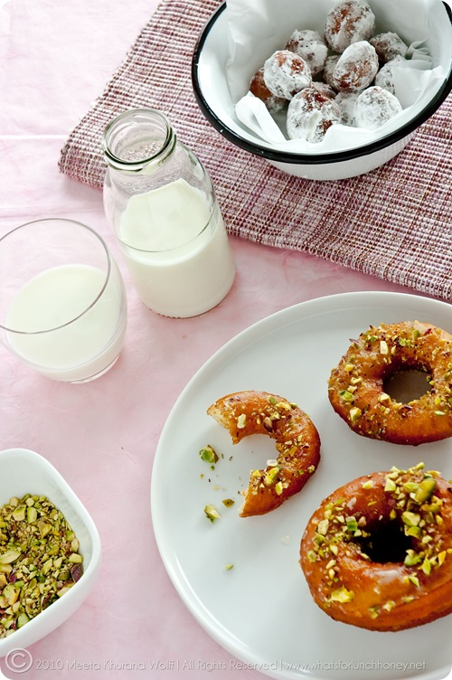 Saffron Cardamom Doughnuts (0014) by Meeta K. Wolff